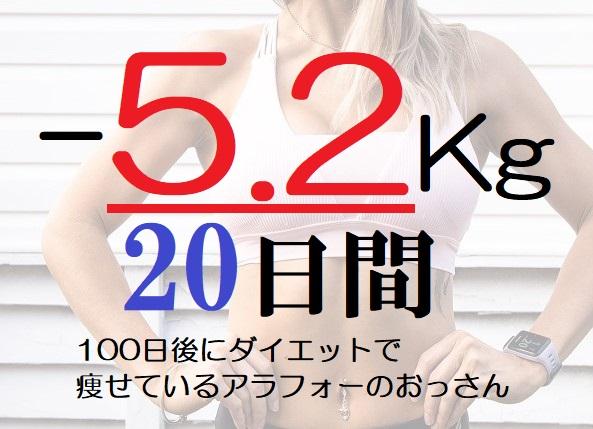 【11-20日目マイナス5.2キロ】100日後に細身になっているアラフォー無職のおっさん!30代40代の痩せ方