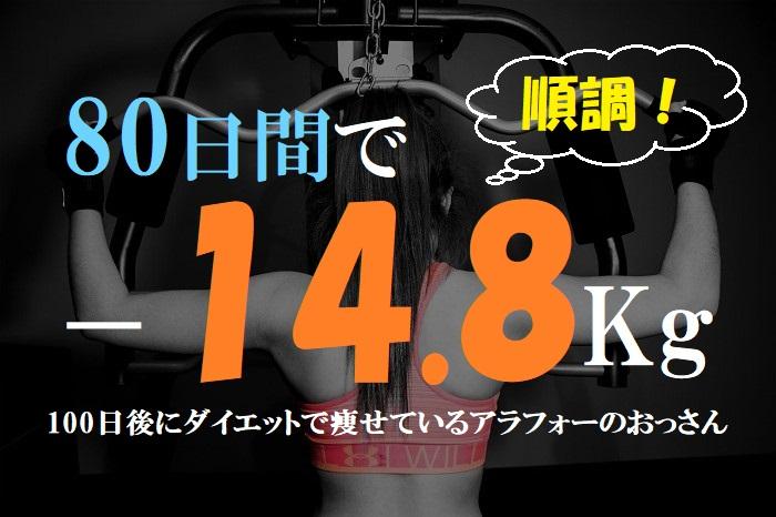【71-80日目マイナス14.8キロ】100日後に細身になっているアラフォー無職のおっさん!30代40代の痩せ方