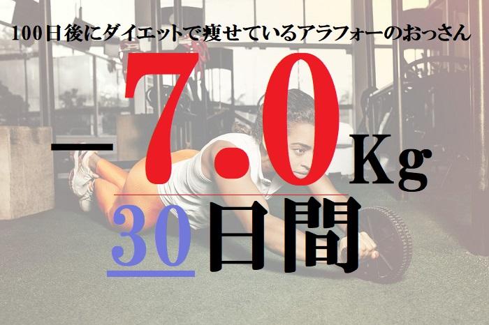 【21-30日目マイナス7キロ】100日後に細身になっているアラフォー無職のおっさん!30代40代の痩せ方